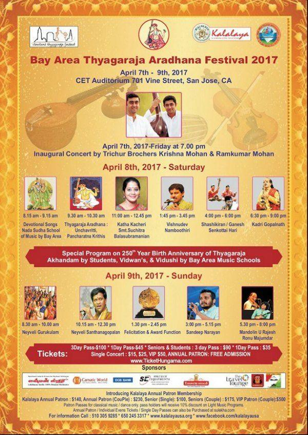 Bay Area Thyagaraja Aradhana Festival 2017 - California, USA