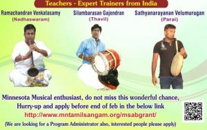 Tamil Traditional Folk Music Workshop - USA