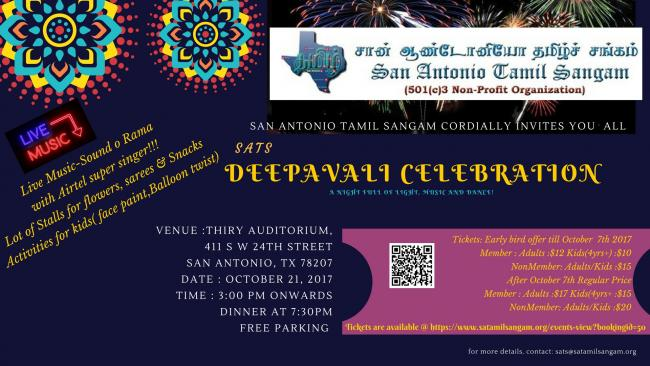 SATS Deepavali 2017 Celebrations - Texas,USA