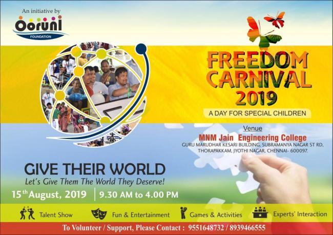 Freedom Carnival 2019 - A Day for Special Children - Chennai, India